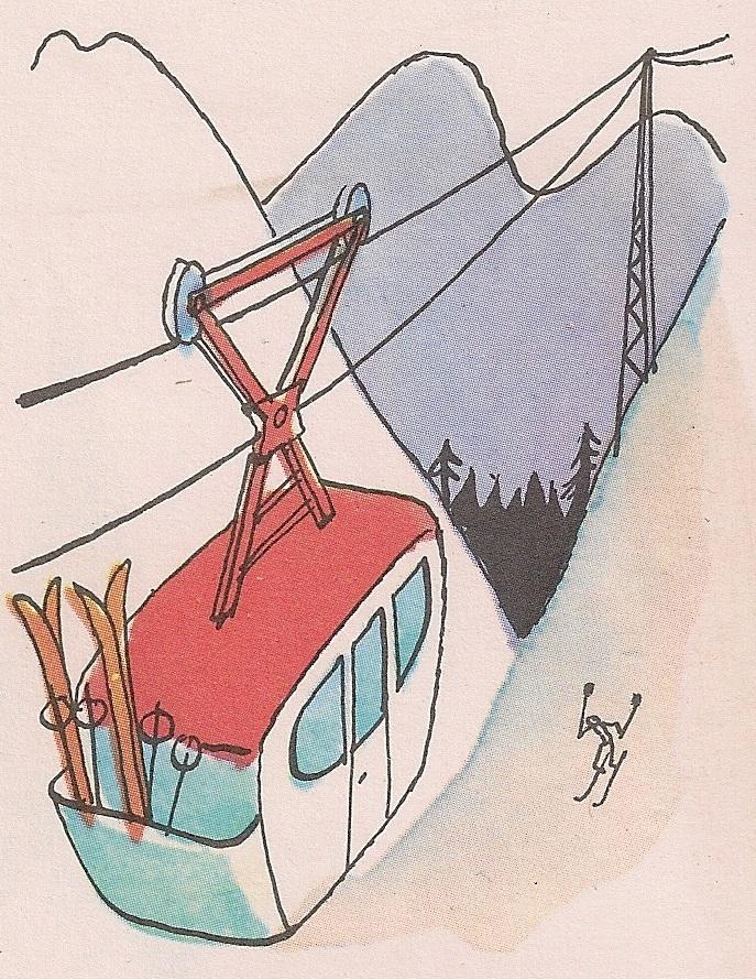Како ради жичара на планини?