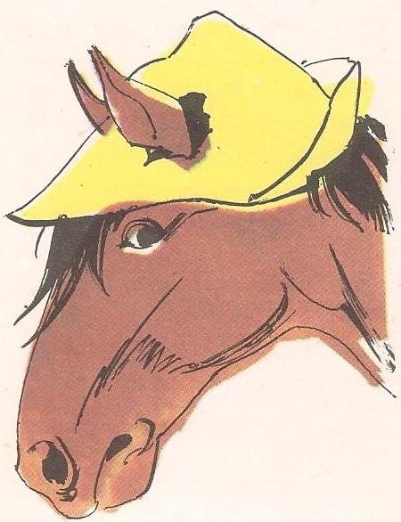 Зашто коњ на слици има само једно око?
