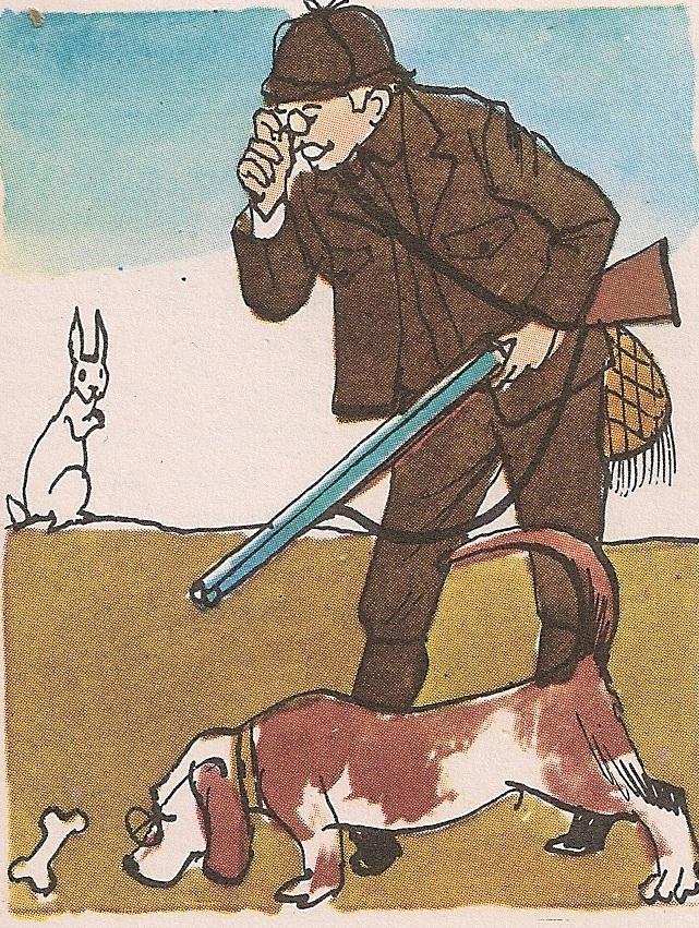 Ловачки пас њушка земљу по трагу