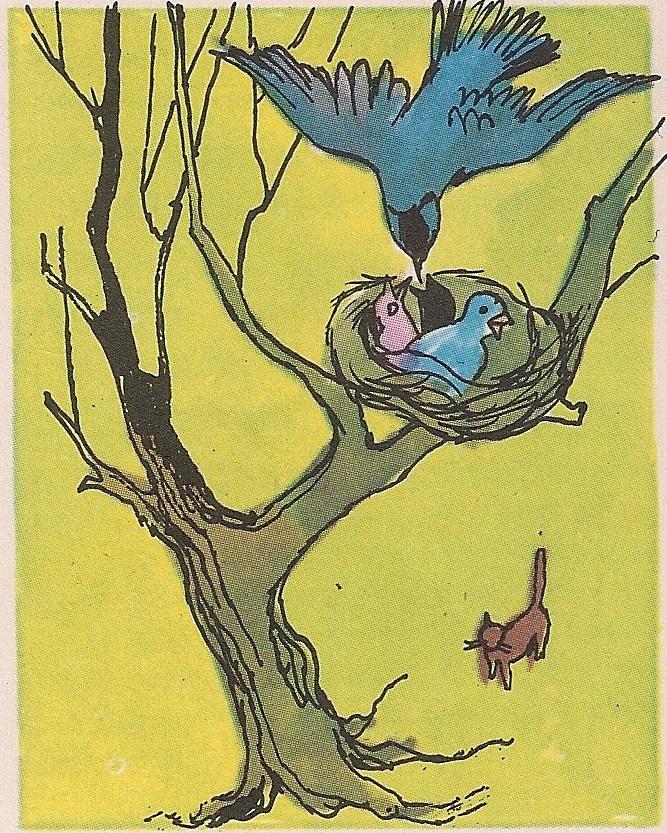 Птице праве гнезда на дрвећу