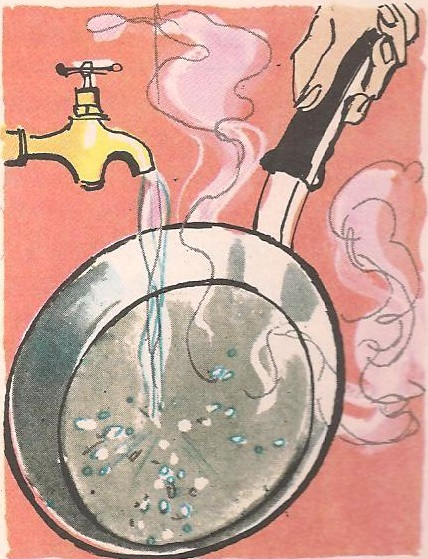 Зашто се вода котрља по врелом тигању?