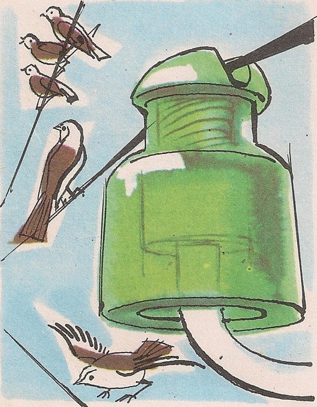 Птице стоје ногама на једној жици