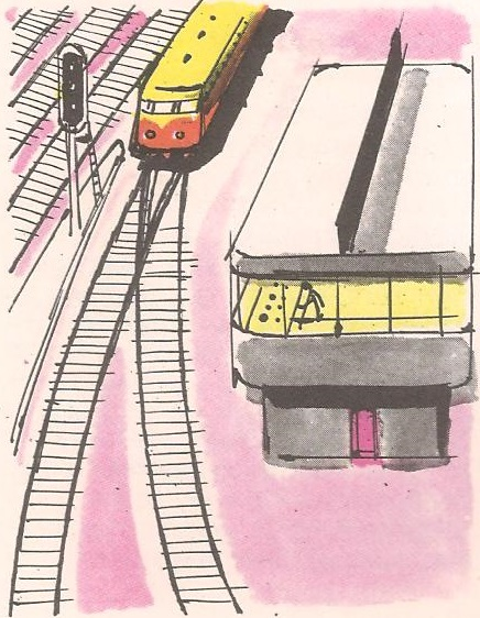 Како воз прелази на други колосек?