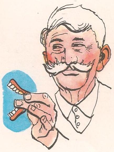 Како то деда скида своје зубе?